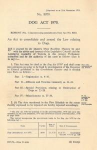 Dog Act 1970