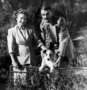Newman and Phyllis Strong and their dog Skipper